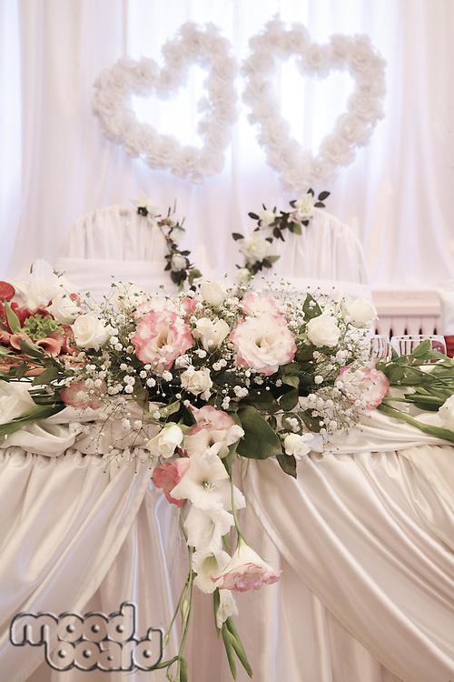 Wedding decoration with fresh flowers