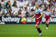 Gilly Flaherty (Capt) (West Ham) during the FA Women's Super League match between West Ham United Women and Tottenham Hotspur Women at the London Stadium, London, England on 29 September 2019.
