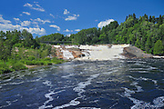 Waterfall on Riviere du Sault-au-Mouton<br /> Longue Rive<br /> Quebec<br /> Canada