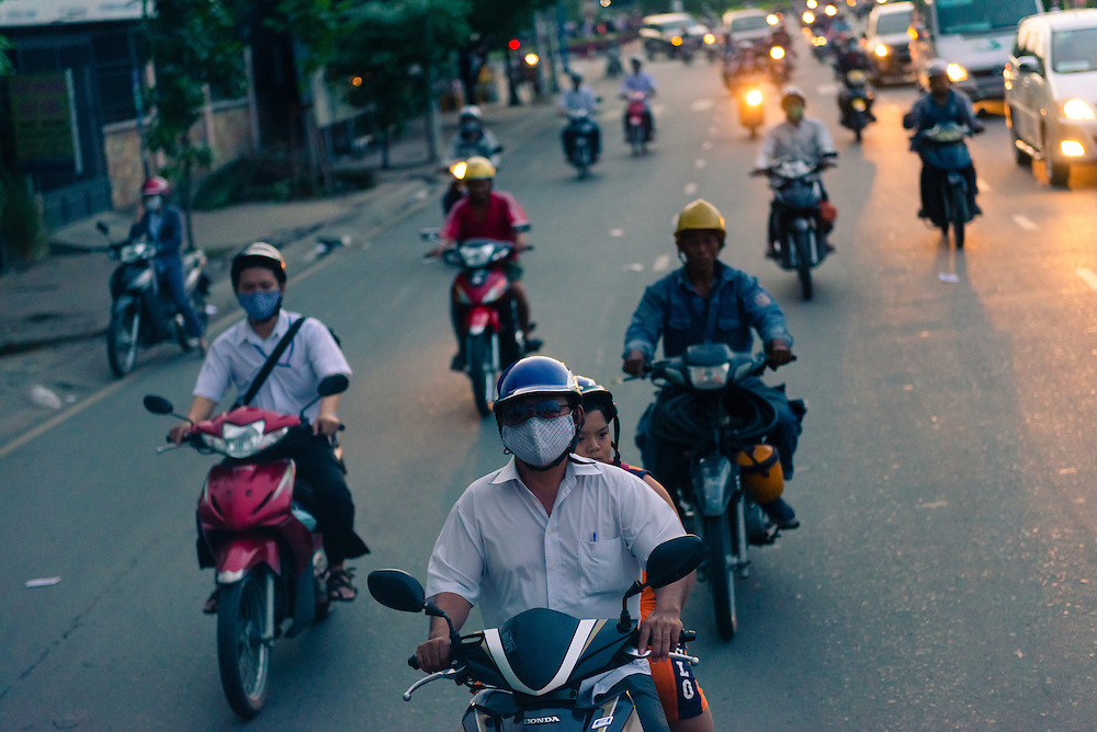 Peak hour traffic in Ho Chi Minh City
