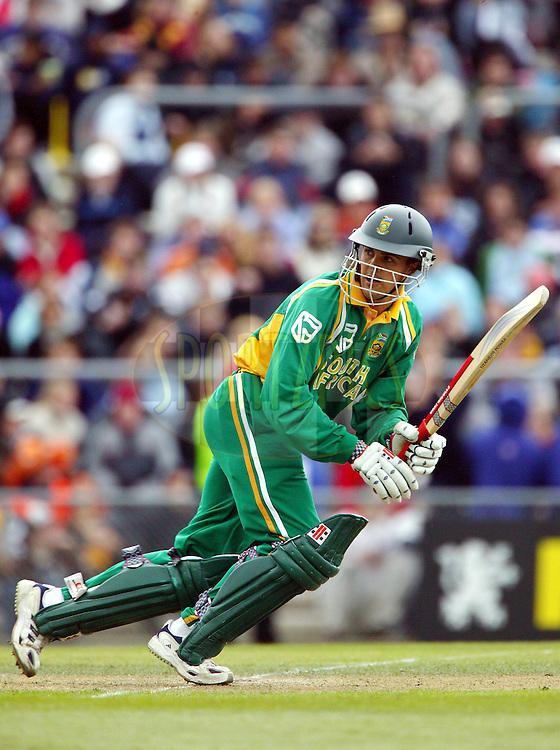 25 February, 2004. Carisbrook, Dunedin, New Zealand. ODI Series. New Zealand v South Africa..Jacques Rudolph..Pic: Photosport