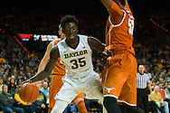 WACO, TX - JANUARY 31: Johnathan Motley #35 of the Baylor Bears drives to the basket against the Texas Longhorns on January 31, 2015 at the Ferrell Center in Waco, Texas.  (Photo by Cooper Neill/Getty Images) *** Local Caption *** Johnathan Motley