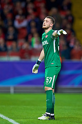 MOSCOW, RUSSIA - Tuesday, September 26, 2017: FC Spartak Moscow's substitute goalkeeper Aleksandr during the UEFA Champions League Group E match between Spartak Moscow and Liverpool at the Otkrytie Arena. (Pic by David Rawcliffe/Propaganda)