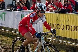 ISHIDA Yui (JPN) during Women Junior race, 2020 UCI Cyclo-cross Worlds Dübendorf, Switzerland, 1 February 2020. Photo by Pim Nijland / Peloton Photos | All photos usage must carry mandatory copyright credit (Peloton Photos | Pim Nijland)