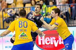 Rasmus Lauge Schmidt of SG Flensburg-Handewitt during handball match between RK Celje Pivovarna Lasko and SG Flensburg Handewitt in VELUX EHF Champions League, on November 26, 2017 in Dvorana Zlatorog, Celje Slovenia. Photo by Ziga Zupan / Sportida