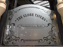 UK ENGLAND LONDON 27JUL13 - The Globe Tavern frosted window at Borough Market, Southwark, London.<br /> <br /> It is one of the largest and oldest food markets in London, and sells a large variety of foods from all over the world.<br /> <br /> <br /> <br /> jre/Photo by Jiri Rezac<br /> <br /> <br /> <br /> &copy; Jiri Rezac 2013