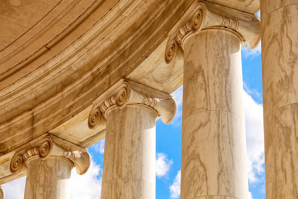 Iconic Columns on the Jefferson Memorial in Washington DC USA