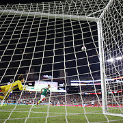 Goalkeeper Guillermo Ochoa, Mexico, punches clear during the Portugal V Mexico International Friendly match in preparation for the 2014 FIFA World Cup in Brazil. Gillette Stadium, Boston (Foxborough), Massachusetts, USA. 6th June 2014. Photo Tim Clayton