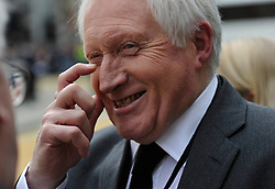 © Licensed to London News Pictures. 17 April 2013. St Paul's Cathedral London. David Dimbleby. Funeral of Baroness Thatcher, former Conservative Prime Minister. Photo credit : MarkHemsworth/LNP