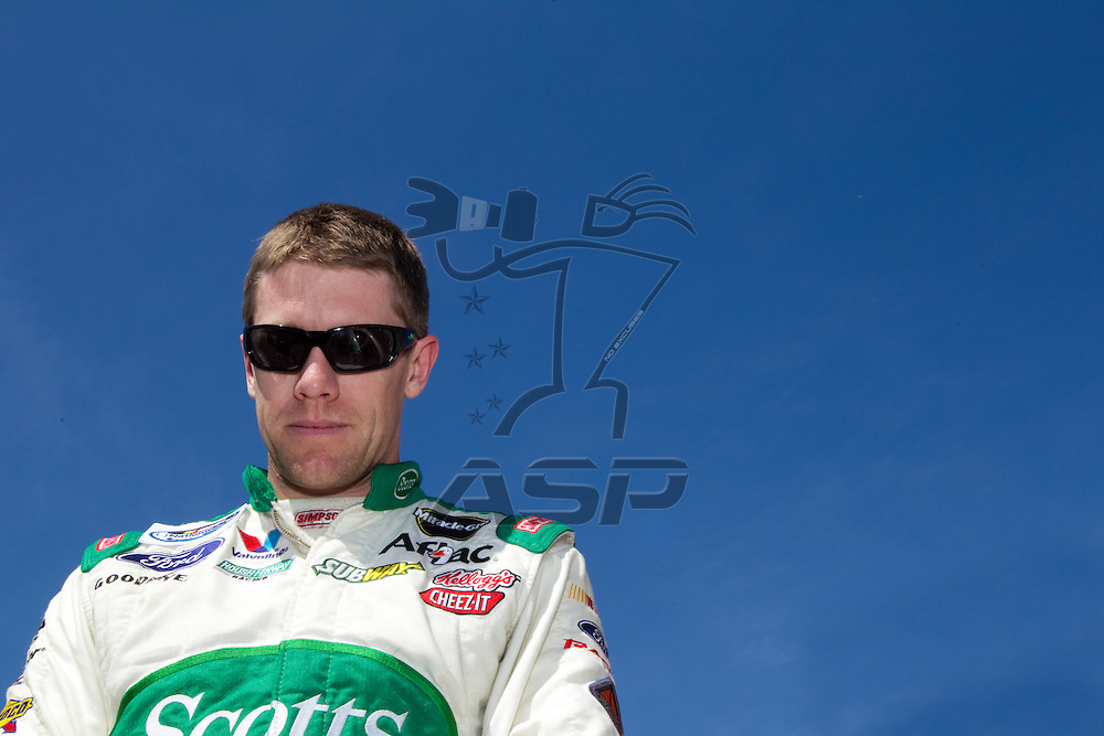 BRISTOL, TN - MAR 19, 2011:  Carl Edwards (60) before the start of the Scotts EZ Seed 300 race at the Bristol Motor Speedway in Bristol, TN.