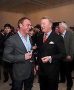"FRANK WARREN; TONY LEWIS, Launch party for a very large limited Edition of  ""The History of the Saatchi Gallery ""edited by Booth Clibborn and published by Kraken Opus. Saatchi Gallery,  The Kings Road. London. 26 November 2009"