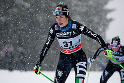 Ilaria Debertolis of Italy during women 9 km pursue race at the cross country Tour de Ski 2014 of the FIS cross country World cup competition on January 5th, 2014 in Alpe Cermis, Val di Fiemme, Italy. (Photo by Urban Urbanc / Sportida)