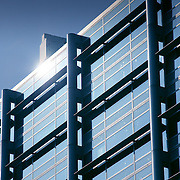 Glass and steel building facade detail, London, England (October 2007)