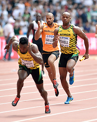 29-08-2015 CHN: IAAF World Championships Athletics day 7, Beijing<br /> Patrick van Luijk (NED) Asafa Powell (JAM). Photo by Ronald Hoogendoorn / Sportida