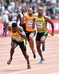 29-08-2015 CHN: IAAF World Championships Athletics day 7, Beijing<br /> Patrick van Luijk (NED) Asafa Powell (JAM). Photo by Ronald Hoogendoorn / Sportida