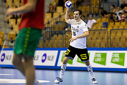 Hendrik Schreiber of Germany during handball match between National teams of Germany and Portugal in game for Third place of 2018 EHF U20 Men's European Championship, on July 29, 2018 in Arena Zlatorog, Celje, Slovenia. Photo by Urban Urbanc / Sportida
