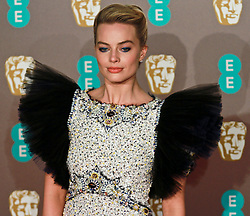 Margot Robbie  on the red carpet ahead of the 2019 British Academy Film Awards at the Royal Albert Hall in London, England on 10th Feburary 2019. ©Ben Booth/Edinburgh Elite media