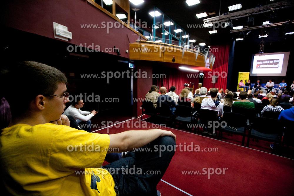 Matic Klansek Velej na okrogli mizi O slovenskem tenisu v organizaciji Sportforum Slovenija, on May 17, 2011 in BTC, Ljubljana, Slovenia. (Photo By Vid Ponikvar / Sportida.com)