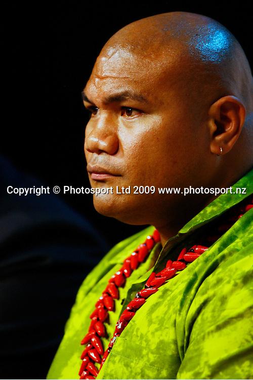 David Tua, David Tua announces his upcoming Tua de Force and his next three fights. Maori Television Studios, Auckland. 4 December 2009. Photo: William Booth/PHOTOSPORT