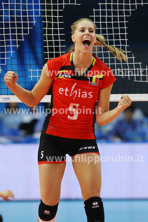 Belgium Charlotte Leys celebrate
