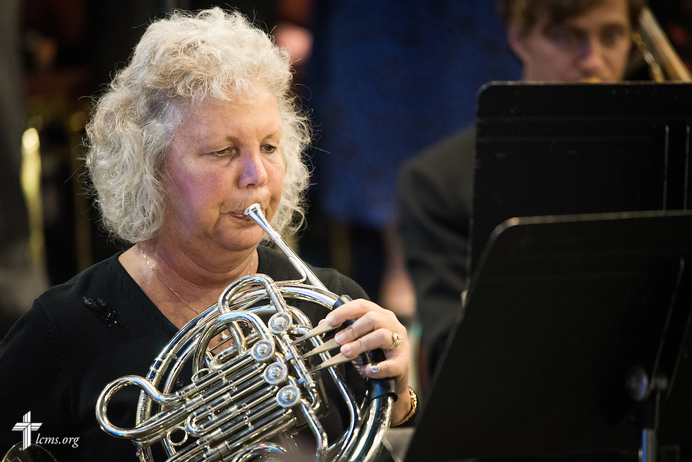 A member of the Convention Brass Ensemble performs during Opening Divine Service of the 66th Regular Convention of The Lutheran Church–Missouri Synod on Saturday, July 9, 2016, at the Wisconsin Center in Milwaukee. LCMS/Frank Kohn