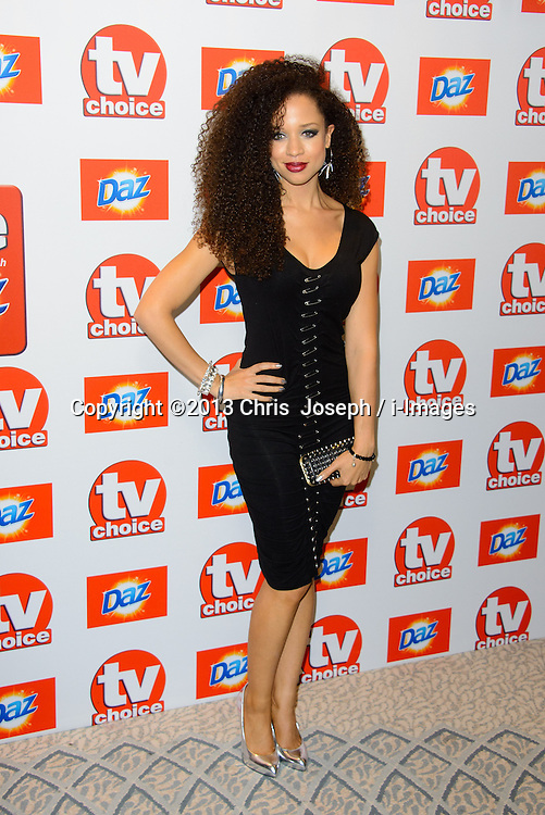 TV Choice Awards 2013 - London.<br /> Natalie Gumede arriving at the TV Choice Awards 2013, The Dorchester Hotel, London, United Kingdom. Monday, 9th September 2013. Picture by Chris  Joseph / i-Images