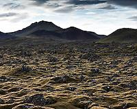 Berserkjahraun lava at Snæfellsnes Peninsula, Iceland. Berserkjahraun á Snæfellsnesi.