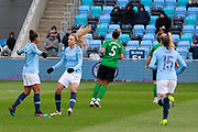 Manchester City Women's forward Nikita Parris (17) celebrates the opening goal from the penalty spot during the FA Women's Super League match between Manchester City Women and Brighton and Hove Albion Women at the Sport City Academy Stadium, Manchester, United Kingdom on 27 January 2019.