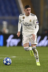 November 27, 2018 - Rome, Rome, Italy - Federico Valverde of Real Madrid during the UEFA Champions League match between Roma and Real Madrid at Stadio Olimpico, Rome, Italy on 27 November 2018. (Credit Image: © Giuseppe Maffia/Pacific Press via ZUMA Wire)