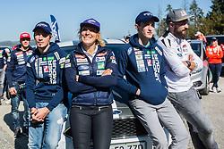 Robert Kranjec, Ilka Stuhec, Peter Prevc and Filip Flisar at media day of Ski Association of Slovenia before new winter season 2018/19, on October 4, 2018 in Ski resort Pohorje, Maribor, Slovenia. Photo by Grega Valancic / Sportida