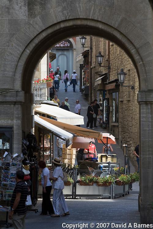 Street in the old town of San Marino, Republic of San Marino