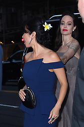 Angelina Jolie adjust Loung Ung's dress as they arrive at DGA. 14 Sep 2017 Pictured: Angelina Jolie. Photo credit: Fleek / MEGA TheMegaAgency.com +1 888 505 6342