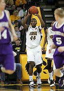 15 FEBRUARY 2007: Iowa forward Cyrus Tate (44) looks for an open player to pass to in Iowa's 66-58 win over Northwestern at Carver-Hawkeye Arena in Iowa City, Iowa on February 15, 2007.