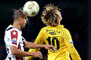 Onderwerp/Subject: VVV Venlo - Willem II - Eredivisie<br /> Reklame:  <br /> Club/Team/Country: <br /> Seizoen/Season: 2012/2013<br /> FOTO/PHOTO: Robert CULLEN (R) player number 10 of VVV Venlo in duel with Philipp HAASTRUP (L) of Willem II. (Photo by PICS UNITED)<br /> <br /> Trefwoorden/Keywords: <br /> #04 #21 $94 ±1342772867474<br /> Photo- & Copyrights © PICS UNITED <br /> P.O. Box 7164 - 5605 BE  EINDHOVEN (THE NETHERLANDS) <br /> Phone +31 (0)40 296 28 00 <br /> Fax +31 (0) 40 248 47 43 <br /> http://www.pics-united.com <br /> e-mail : sales@pics-united.com (If you would like to raise any issues regarding any aspects of products / service of PICS UNITED) or <br /> e-mail : sales@pics-united.com   <br /> <br /> ATTENTIE: <br /> Publicatie ook bij aanbieding door derden is slechts toegestaan na verkregen toestemming van Pics United. <br /> VOLLEDIGE NAAMSVERMELDING IS VERPLICHT! (© PICS UNITED/Naam Fotograaf, zie veld 4 van de bestandsinfo 'credits') <br /> ATTENTION:  <br /> © Pics United. Reproduction/publication of this photo by any parties is only permitted after authorisation is sought and obtained from  PICS UNITED- THE NETHERLANDS
