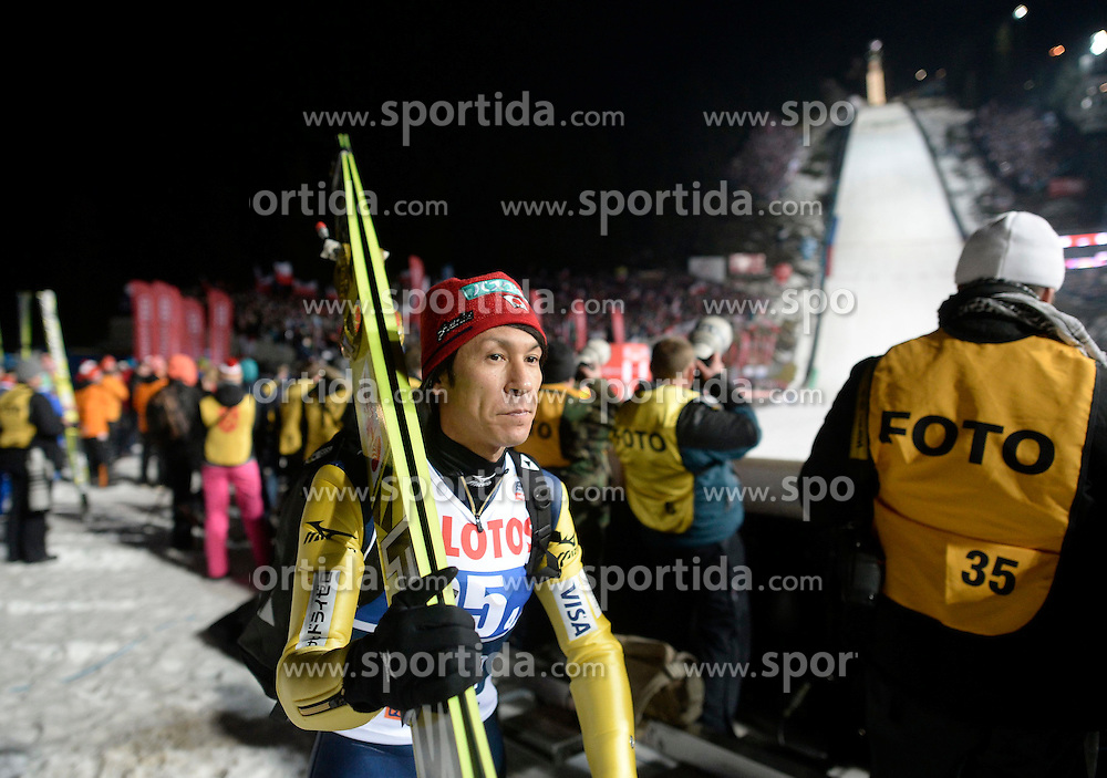 17.01.2015, Wielka Krokiew, Zakopane, POL, FIS Weltcup Ski Sprung, Zakopane, Herren, Teamspringen, im Bild Noriaki Kasai // during mens Large Hill Team competition of FIS Ski Jumping world cup at the Wielka Krokiew in Zakopane, Poland on 2015/01/17. EXPA Pictures &copy; 2015, PhotoCredit: EXPA/ Newspix/ Irek Dorozanski<br /> <br /> *****ATTENTION - for AUT, SLO, CRO, SRB, BIH, MAZ, TUR, SUI, SWE only*****