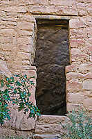 T-shaped doorway at the Spruce Tree Houes, mesa Verde National Park. Colorado,  USA