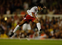 Photo: Henry Browne.<br /> Arsenal v FC Thun. UEFA Champions League.<br /> 14/09/2005.<br /> Pimenta Adriano of Thun has a shot.