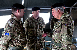 PEMBROKE- UK - 27-FEB-2014- The Prince of Wales, Colonel-in-Chief, will visit C Squadron, 1st Queen's Dragoon Guards to meet troops who are training for future operations at Castlemartin Range Complex, South Pembrokshire