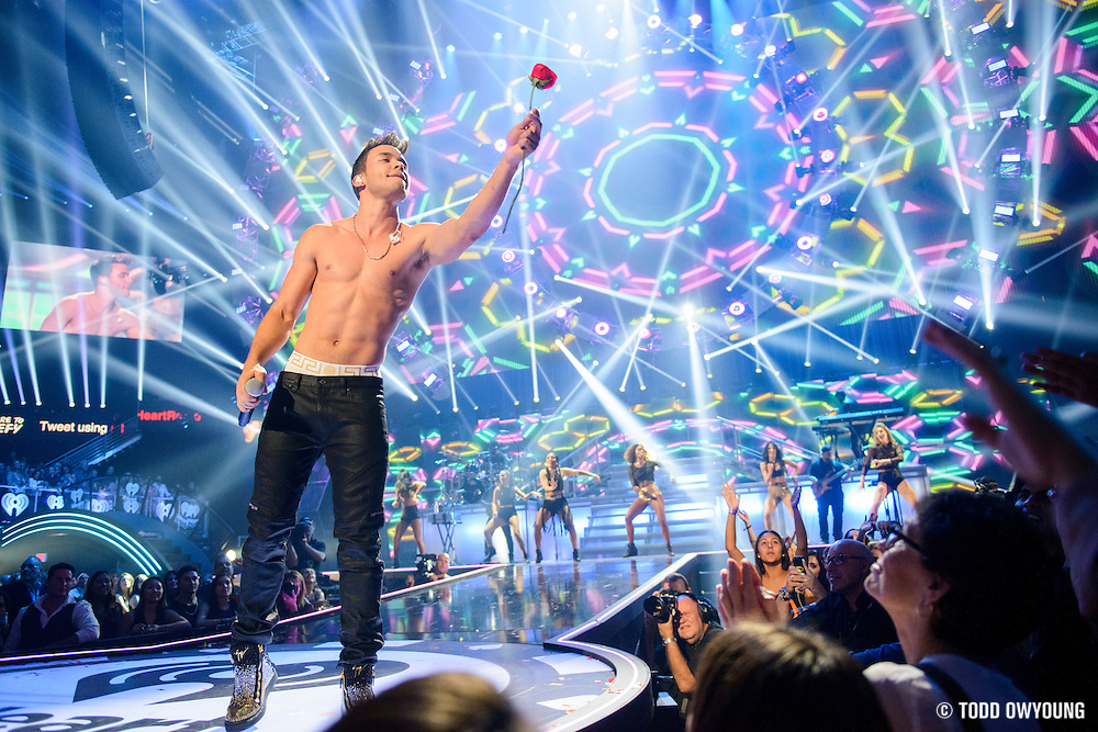 Prince Royce performing at the iHeartRadio Music Festival in Las Vegas on September 19, 2015.