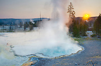 Sunrise at Surprise Pool, Yellowstone National Park