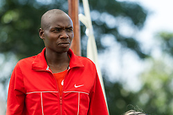 Beach to Beacon 10K pre-race press conference with elite runners Stephen Kipkosgei Kibet