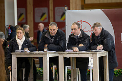 Jury, De Smet Stefan, Bode H, Van Den Broeck H<br /> BWP Hengsten keuring Koningshooikt 2015<br /> © Hippo Foto - Dirk Caremans<br /> 22/01/16