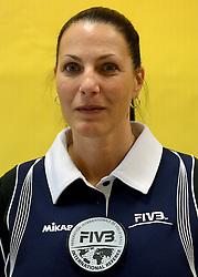 08-08-2014 NED: FIVB Grand Prix Nederland - Puerto Rico, Doetinchem<br /> Official FIVB referee Ute Maria Fischer (GER)