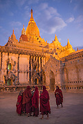Buddhist monks at  full moon festival, Mandalay, Myanmar