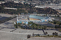 The massive Dodger Stadium has the largest seating capcity in the world.