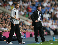 Photo: Lee Earle.<br /> West Bromwich Albion v Hull City. Coca Cola Championship. 05/08/2006. Hull manager Phil Parkinson (L) with Albion manager Bryan Robson.