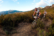 VILLIERSDORP, SOUTH AFRICA - early stage leaders Bart Brentjens and Chris Jongewaard during stage two of the Absa Cape Epic Mountain Bike Stage Race held in Villiersdorp on the 23 March 2009 in the Western Cape, South Africa..Photo by Sven Martin  /SPORTZPICS