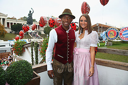 05.10.2014, Theresienwiese, München, GER, 1. FBL, FC Bayern Muenchen am Oktoberfest, im Bild David Alaba of attends with his girlfriend Katja Butylina the Oktoberfest beer festival at Kaefer Wiesnschaenke tent at Theresienwiese on 2014/10/05. EXPA Pictures © 2014, PhotoCredit: EXPA/ Eibner-Pressefoto/ Pool<br /> <br /> *****ATTENTION - OUT of GER*****