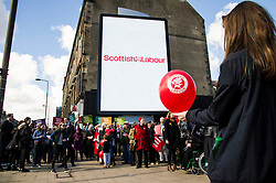 Pictured: <br /> <br /> Scottish Labour leader Kezia Dugdale today launched a new billboard poster for the final weekend of campaigning before the Scottish Parliament election on Thursday 5 May. She was joined by supporters and fellow candidates such as Sarah Boyack; Lesley Hinds and Daniel Johnston<br /> <br /> Ger Harley | EEm 30 April 2016