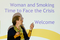 No fee for Repro: 4/07/2012.Dr Jude Robinson, reader in the Anthropology of Health and Illness, Department of Sociology, Social Policy and Criminology, University of Liverpool guest speaker at the ?Women and Smoking: Time to Face the Crisis? conference today where the Irish Cancer Society highlighted how the tobacco industry is aggressively targeting women and girls in the hope to recruit more women smokers. The conference, held in association with the National Women's Council of Ireland, addessed the crisis of women and smoking and the fact that for the first time more women in Ireland are dying from lung cancer than breast cancer. Picture: Andres Poveda